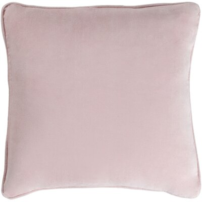 Baylie Contemporary Cotton Velvet Pillow Cover Color: Blush Pink