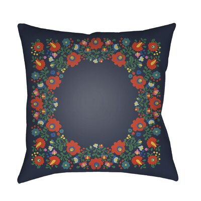 Dillingham Indoor/Outdoor Throw Pillow Size: 18 H x 18 W x 3 D, Color: Navy