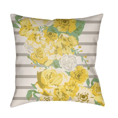 Langridge Indoor/Outdoor Throw Pillow Size: 16 H x 16 W x 3 D, Color: Yellow