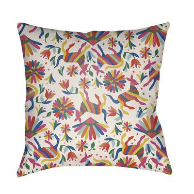 Lolita Pablo Indoor/Outdoor Throw Pillow Color: White, Size: 16 H x 16 W x 3 D