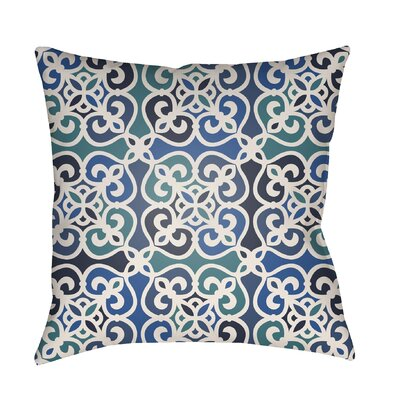 Alfredson Indoor/Outdoor Throw Pillow Size: 26 H x 26 W x 5 D, Color: Blue