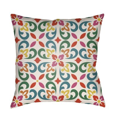 Dillion Indoor/Outdoor Throw Pillow Size: 20 H x 20 W x 3 D, Color: White