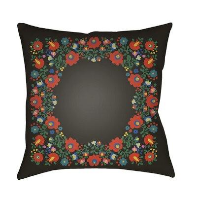 Lolita Camila Indoor/Outdoor Throw Pillow Color: Black, Size: 22