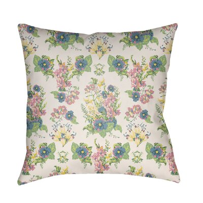 Lolita Lola Indoor/Outdoor Throw Pillow Color: White, Size: 18 H x 18 W x 3 D