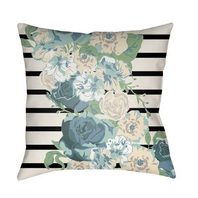 Langridge Indoor/Outdoor Throw Pillow Size: 26 H x 26 W x 5 D, Color: Blue