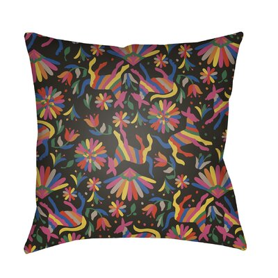 Dimartino Indoor/Outdoor Throw Pillow Size: 22 H x 22 W x 3 D, Color: Black