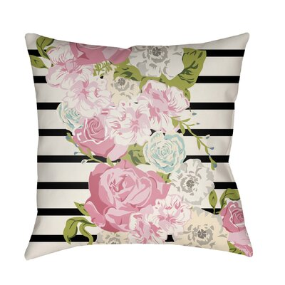Langridge Indoor/Outdoor Throw Pillow Size: 20 H x 20 W x 3 D, Color: Pink