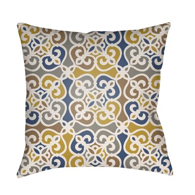 Alfredson Indoor/Outdoor Throw Pillow Size: 18 H x 18 W x 3 D, Color: Yellow