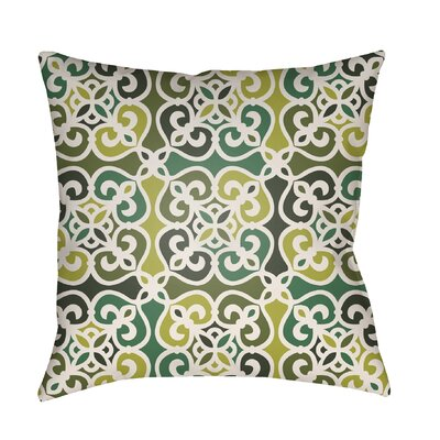 Alfredson Indoor/Outdoor Throw Pillow Size: 26 H x 26 W x 5 D, Color: Green