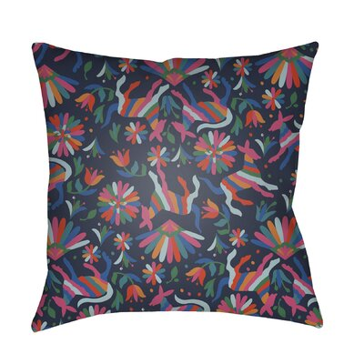 Lolita Pablo Indoor/Outdoor Throw Pillow Color: Navy, Size: 20 H x 20 W x 3 D