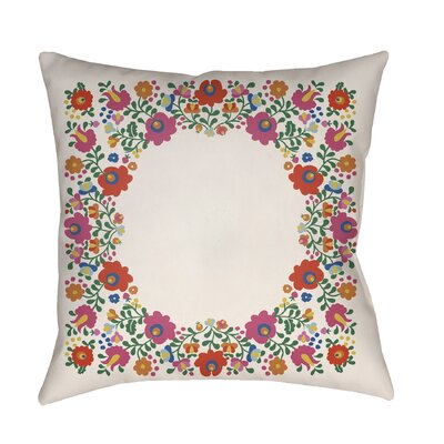 Lolita Camila Indoor/Outdoor Throw Pillow Color: White, Size: 16 H x 16 W x 3 D
