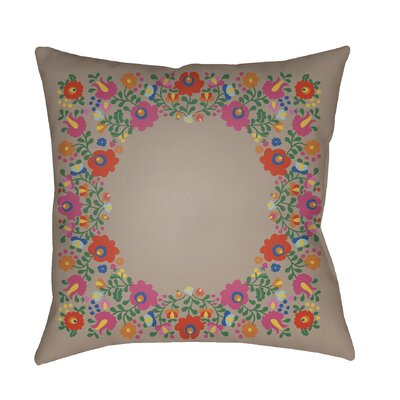 Lolita Camila Indoor/Outdoor Throw Pillow Color: Taupe, Size: 16 H x 16 W x 3 D