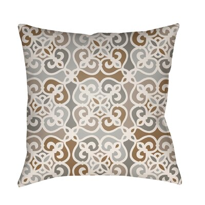 Alfredson Indoor/Outdoor Throw Pillow Size: 16 H x 16 W x 3 D, Color: Gray