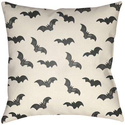 Lodge Cabin Bat Indoor/Outdoor Throw Pillow Size: 16 H x 16 W