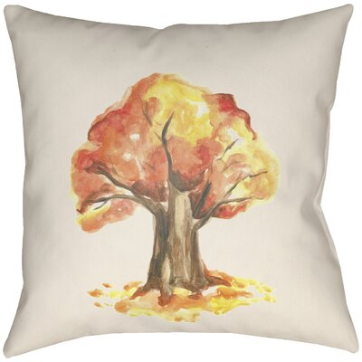 Lodge Cabin Tree Indoor/Outdoor Throw Pillow Size: 16 H x 16 W