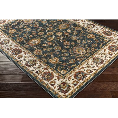 Eady Charcoal/Teal Area Rug Rug Size: Rectangle 53 x 73