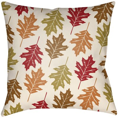 Lodge Cabin Autumn Indoor/Outdoor Throw Pillow Color: Crimson Red/Beige, Size: 20 H x 20 W