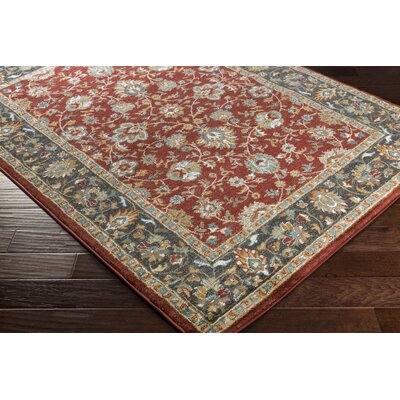 Eadie Red Area Rug Rug Size: Rectangle 53 x 73