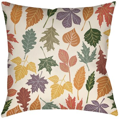 Lodge Cabin Foliage Indoor/Outdoor Throw Pillow Size: 18 H x 18 W