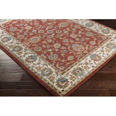 Eady Terra Cotta/Teal Area Rug Rug Size: Rectangle 53 x 73