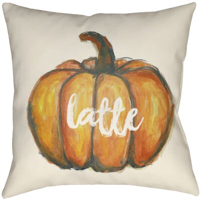 Drewry Latte Throw Pillow Size: 16 H x 16 W