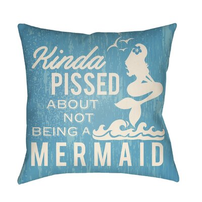 Courtdale Mermaid Indoor/Outdoor Throw Pillow