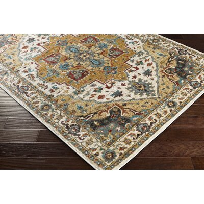 Piccirillo Beige/Red Red Area Rug Rug Size: Rectangle 67 x 96