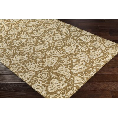 Aymond Hand-Tufted Nutmeg/Beige Area Rug Rug Size: Rectangle 76 x 96