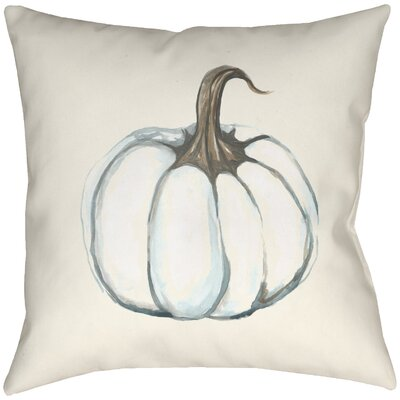 Lodge Cabin Pumpkin Indoor/Outdoor Throw Pillow Size: 18 H x 18 W