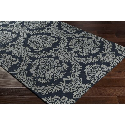 Kimmel Hand-Tufted Onyx Black/Gray Area Rug Rug Size: Rectangle 5 x 76