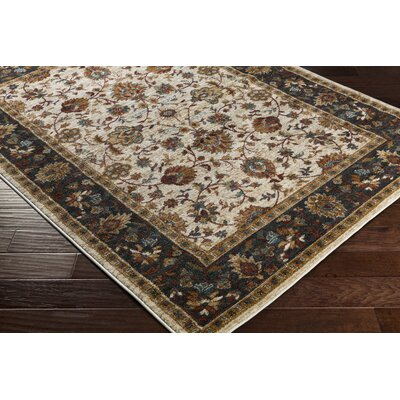 Eadie Ivory/Crimson Red Area Rug Rug Size: Rectangle 5'3