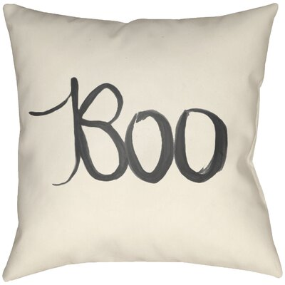 Lodge Cabin Boo Indoor/Outdoor Throw Pillow Size: 18 H x 18 W