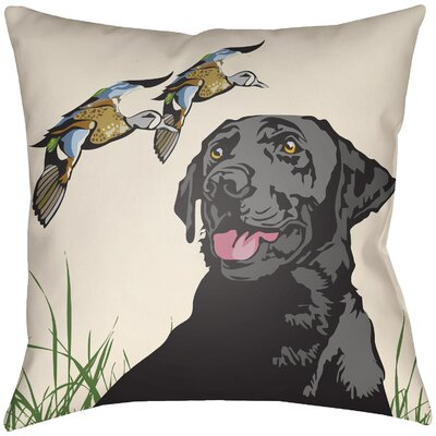 Lodge Cabin Hound Throw Pillow Size: 16 H x 16 W