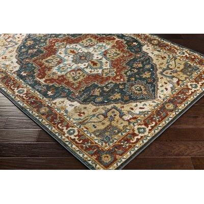 Piccirillo Brown/Teal Area Rug Rug Size: Rectangle 2 x 3