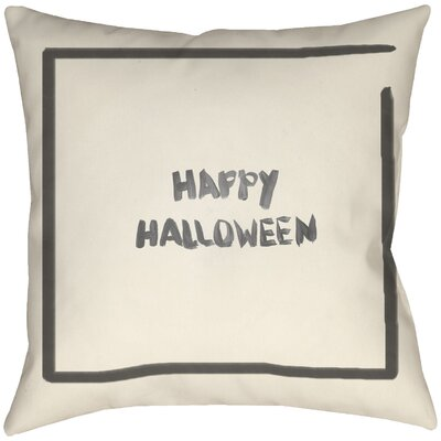 Lodge Cabin Halloween Throw Pillow Size: 16 H x 16 W