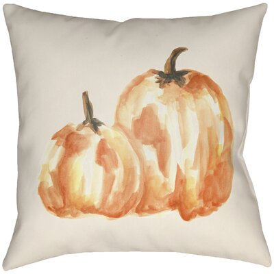 Lodge Cabin Pumpkin Spice Indoor/Outdoor Throw Pillow Size: 18 H x 18 W