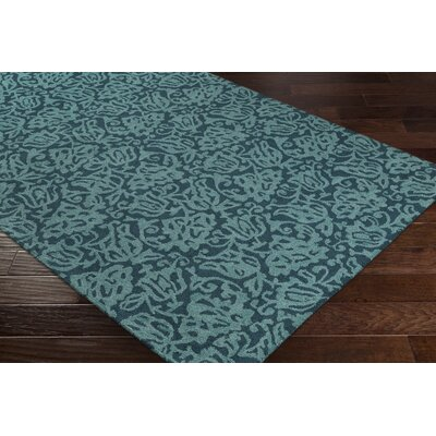 Aymond Hand-Tufted Teal/Turquoise Area Rug Rug Size: Rectangle 76 x 96
