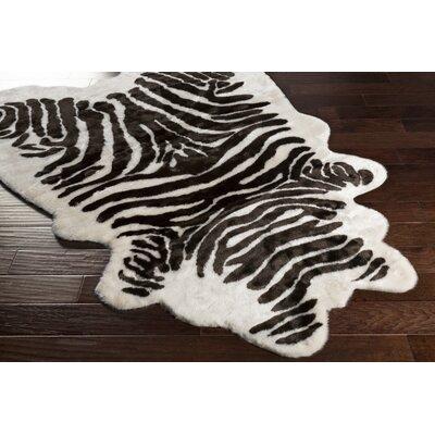 Zadie Zebra Onyx Black/Ivory Area Rug