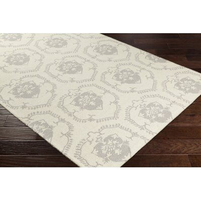 Ebert Hand-Tufted Ivory/Light Gray Area Rug Rug Size: Rectangle 5 x 76