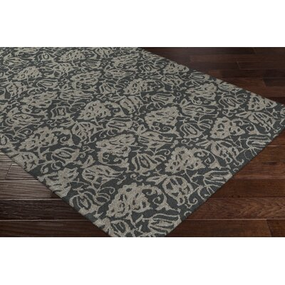 Aymond Hand-Tufted Onyx Black/Gray Area Rug Rug Size: Rectangle 76 x 96