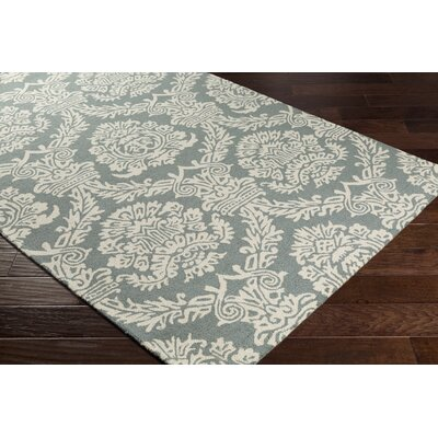 Kimmel Hand-Tufted Gray/Ivory Area Rug Rug Size: Rectangle 5 x 76