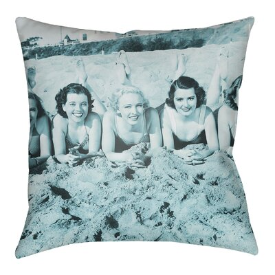 Litchfield Sandy Indoor/Outdoor Throw Pillow Size: 20 H x 20 W, Color: Teal
