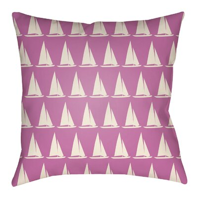 Litchfield Sumter Indoor/Outdoor Throw Pillow Size: 20 H x 20 W, Color: Fuchsia/Ivory