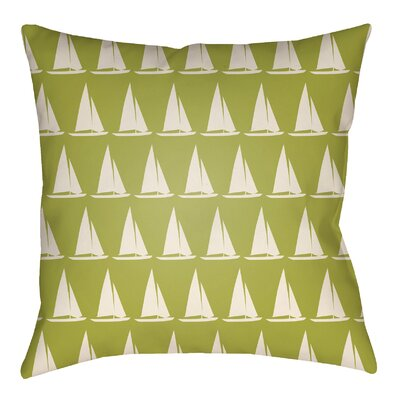 Litchfield Sumter Indoor/Outdoor Throw Pillow Size: 20 H x 20 W, Color: Lime Green/Ivory