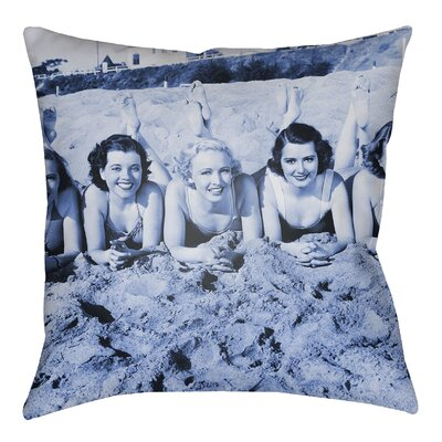 Courter Sandy Indoor/Outdoor Throw Pillow Size: 18 H x 18 W, Color: Royal Blue