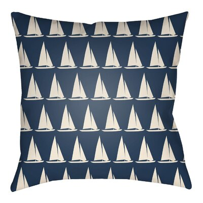 Litchfield Sumter Indoor/Outdoor Throw Pillow Color: Navy Blue/Ivory, Size: 20 H x 20 W
