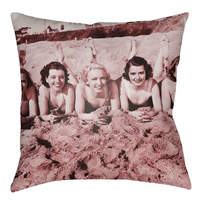 Courter Sandy Indoor/Outdoor Throw Pillow Size: 22 H x 22 W, Color: Violet