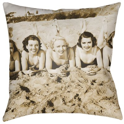 Litchfield Sandy Indoor/Outdoor Throw Pillow Size: 20 H x 20 W, Color: Sepia