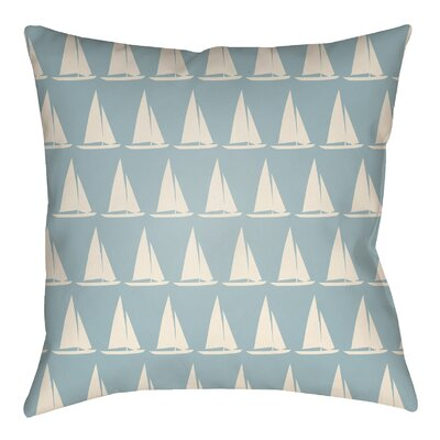 Litchfield Sumter Indoor/Outdoor Throw Pillow Size: 20 H x 20 W, Color: Light Blue/Ivory