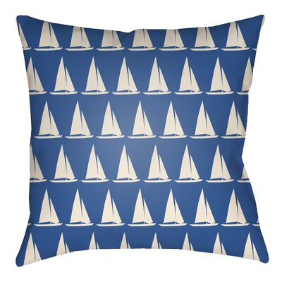 Litchfield Sumter Indoor/Outdoor Throw Pillow Size: 20 H x 20 W, Color: Royal Blue/Ivory